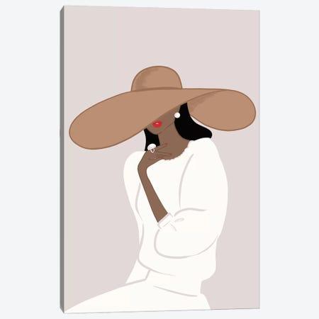 Floppy Hat, Dark-Skinned, Black Hair Canvas Print #SAF39} by Sabina Fenn Art Print