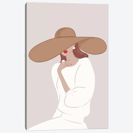 Floppy Hat, Light-Skinned, Red Hair Canvas Print #SAF44} by Sabina Fenn Art Print