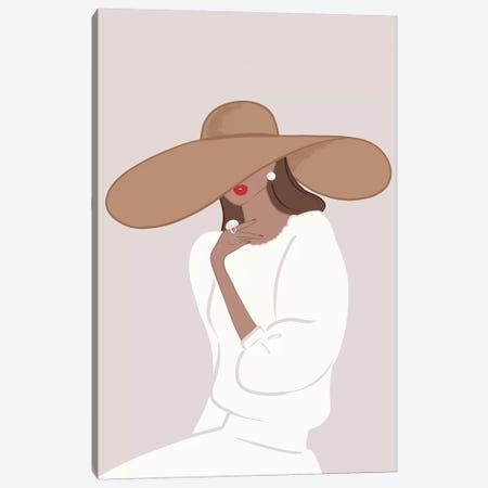 Floppy Hat, Tanned, Brunette Hair Canvas Print #SAF45} by Sabina Fenn Canvas Print