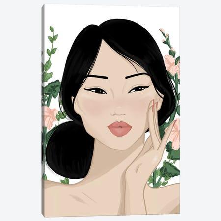Korean Beauty Canvas Print #SAF53} by Sabina Fenn Art Print