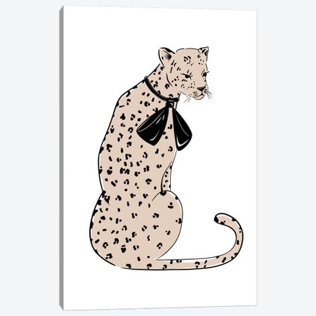 Leopard Chic Canvas Print #SAF54} by Sabina Fenn Canvas Wall Art