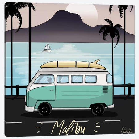 Malibu Dream Canvas Print #SAF56} by Sabina Fenn Canvas Art