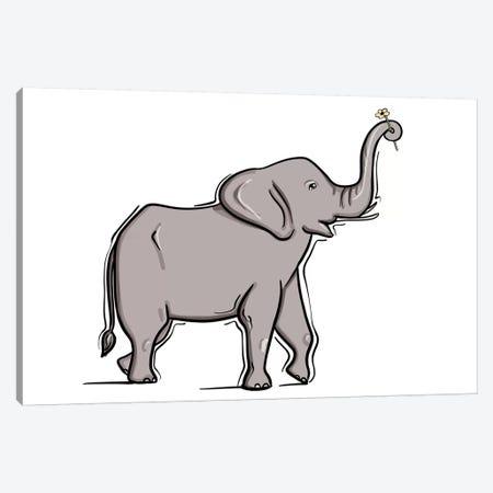 Baby Elephant Canvas Print #SAF5} by Sabina Fenn Canvas Wall Art