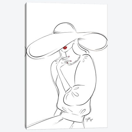 Mon Beau Chapeau Canvas Print #SAF60} by Sabina Fenn Canvas Art