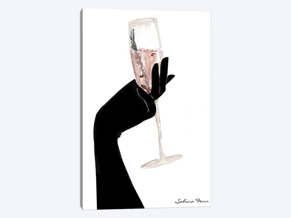 Rosemary Champagne Chic by Sabina Fenn 1-piece Art Print