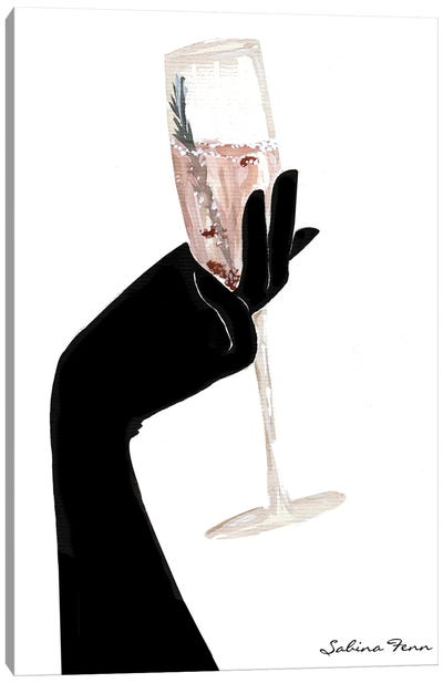 Rosemary Champagne Chic Canvas Art Print