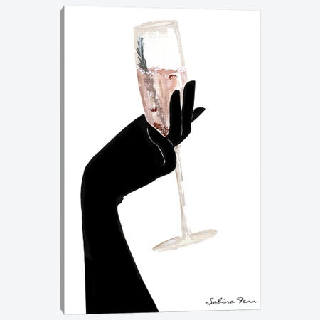 Rosemary Champagne Chic 3-Piece Canvas #SAF69} by Sabina Fenn Canvas Art