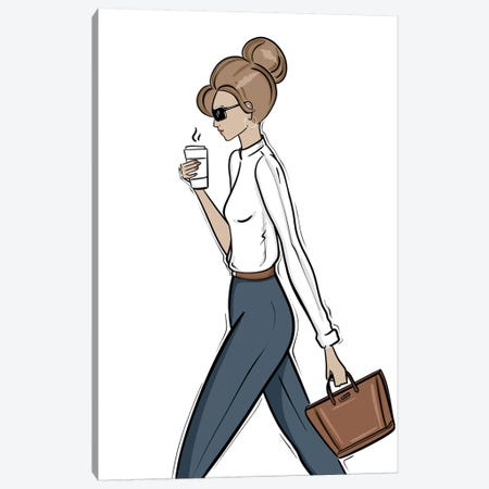 Back to Work Canvas Print #SAF6} by Sabina Fenn Canvas Artwork