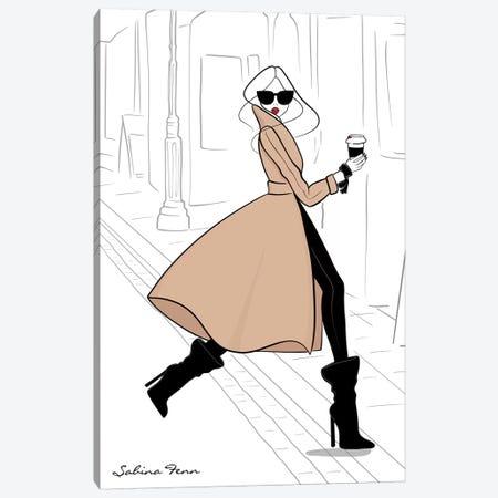 Running Around Paris Canvas Print #SAF70} by Sabina Fenn Canvas Art Print