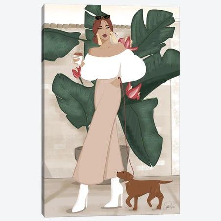 Spring Stroll in LA Canvas Print #SAF88} by Sabina Fenn Canvas Wall Art