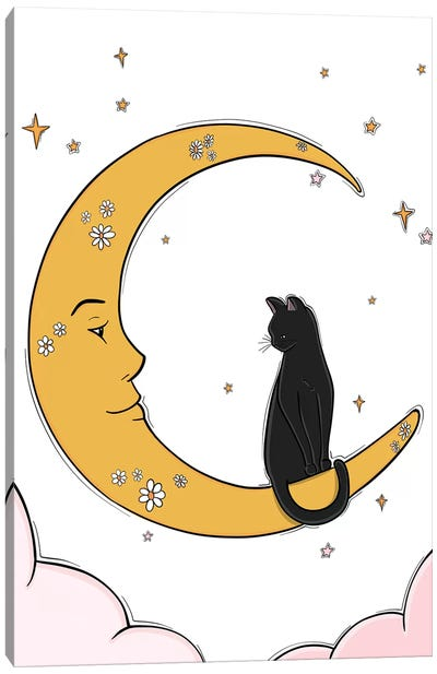 The Moon And His Friend Canvas Art Print