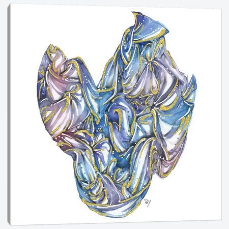 Fabric Bundle Blue Canvas Print #SAH11} by Samuel Harrison Canvas Art Print