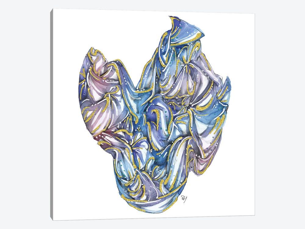Fabric Bundle Blue by Samuel Harrison 1-piece Canvas Art Print