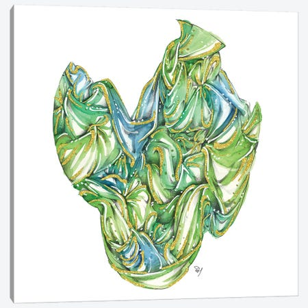 Fabric Bundle Green Canvas Print #SAH12} by Samuel Harrison Art Print