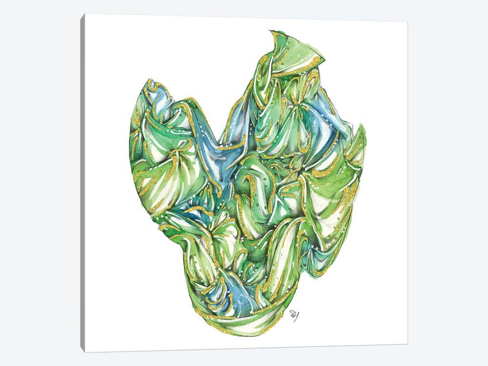 Fabric Bundle Green by Samuel Harrison 1-piece Canvas Artwork