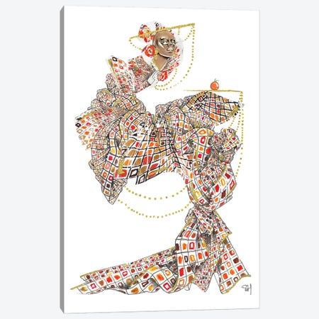 Fruity Fendi Pattern Canvas Print #SAH16} by Samuel Harrison Canvas Artwork