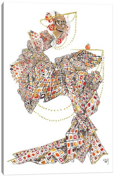 Fruity Fendi Pattern Canvas Art Print