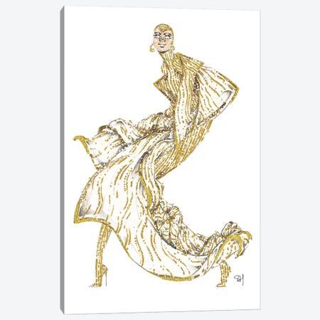 Gigi Hadid Met Gala 2019 Canvas Print #SAH17} by Samuel Harrison Canvas Art