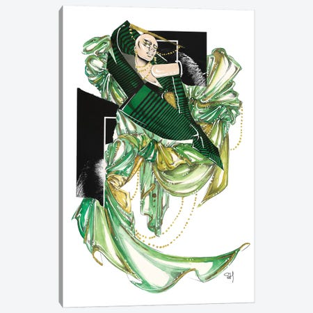 Green Glam Canvas Print #SAH18} by Samuel Harrison Art Print