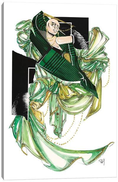 Green Glam Canvas Art Print