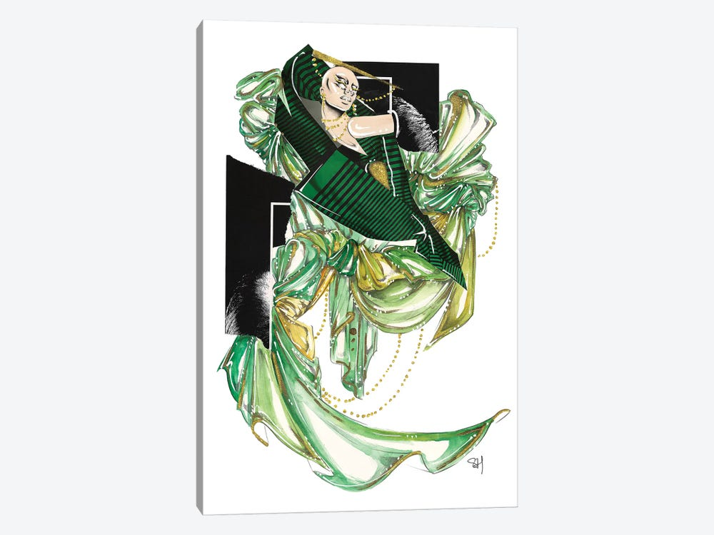 Green Glam by Samuel Harrison 1-piece Canvas Art