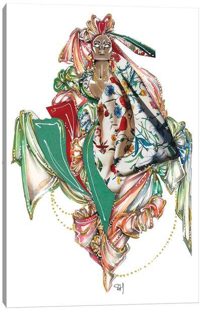 Gucci Floral Pattern Canvas Art Print