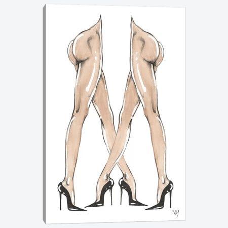 Legs Crossed Canvas Print #SAH21} by Samuel Harrison Canvas Artwork