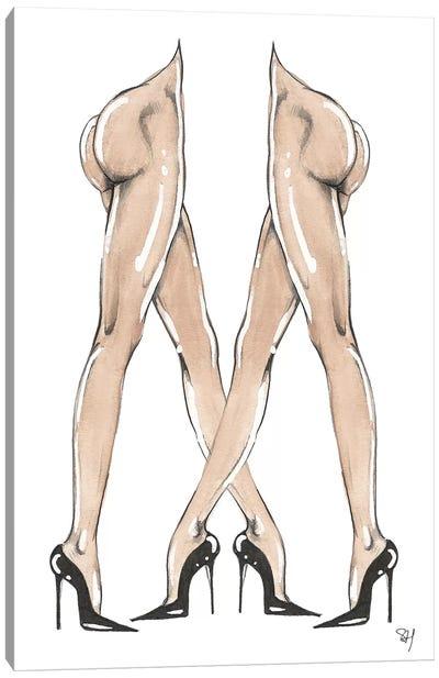 Legs Crossed Canvas Art Print