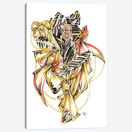 Moschino Zig Zag Canvas Print #SAH26} by Samuel Harrison Art Print