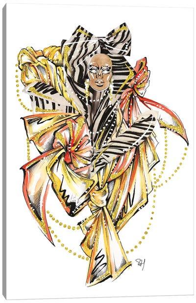 Moschino Zig Zag Canvas Art Print