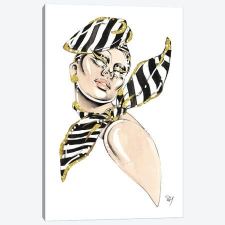 Over The Shoulder Stripes Canvas Print #SAH29} by Samuel Harrison Canvas Art