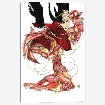 Red Radiance Canvas Print #SAH32} by Samuel Harrison Canvas Art Print