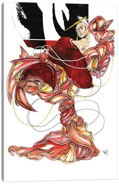 Red Radiance Canvas Art Print