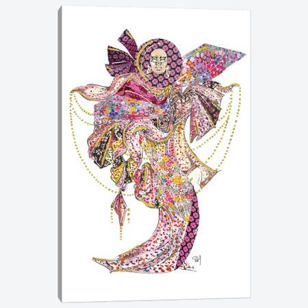 Spade Floral Pattern Canvas Print #SAH37} by Samuel Harrison Canvas Art