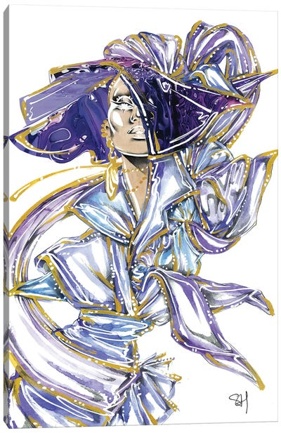 Purple Pvc Canvas Art Print