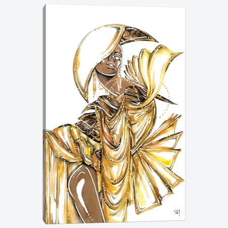 Bronze Goddess Canvas Print #SAH45} by Samuel Harrison Art Print