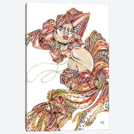 Red Leopard Canvas Print #SAH46} by Samuel Harrison Canvas Print