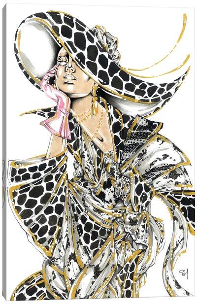 Monochrome Giraffe Canvas Art Print