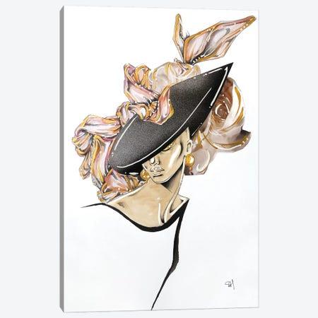 Tilted Rose Canvas Print #SAH49} by Samuel Harrison Canvas Wall Art
