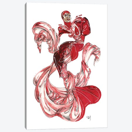 Cardi B Met Gala 2019 Canvas Print #SAH4} by Samuel Harrison Canvas Artwork