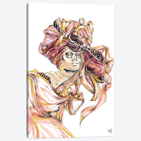 Peach Perfect Canvas Print #SAH52} by Samuel Harrison Canvas Print