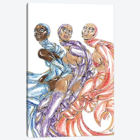 Ladies In Lace Canvas Print #SAH53} by Samuel Harrison Art Print