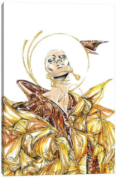 Golden Swirl Canvas Art Print