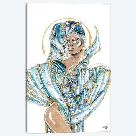 Ocean Blue Canvas Print #SAH56} by Samuel Harrison Canvas Artwork