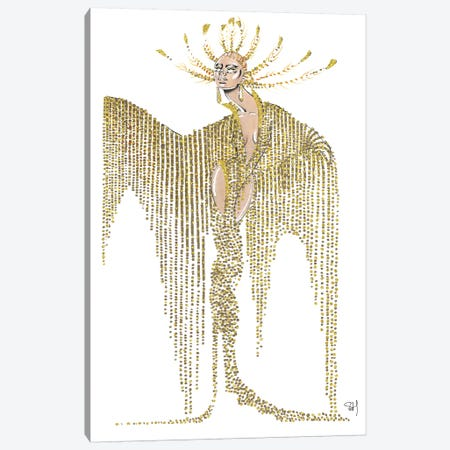 Celine Dion Met Gala 2019 Canvas Print #SAH5} by Samuel Harrison Canvas Art
