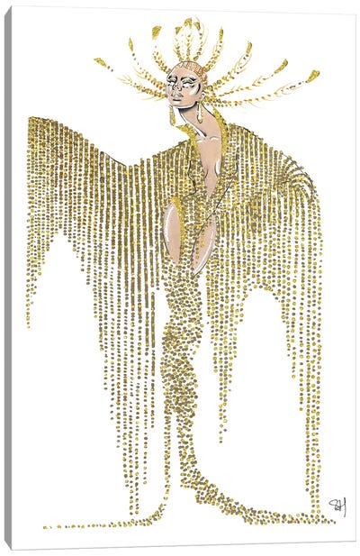Celine Dion Met Gala 2019 Canvas Art Print