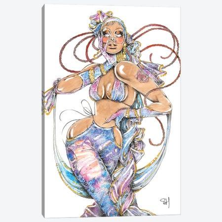 Galaxy Girl Canvas Print #SAH60} by Samuel Harrison Canvas Wall Art