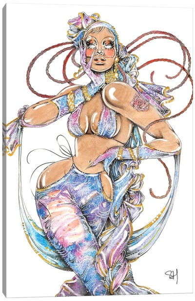 Galaxy Girl Canvas Art Print