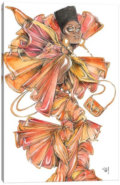 Orange V Canvas Art Print