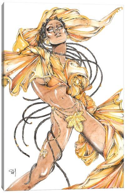 Gold Braids Canvas Art Print
